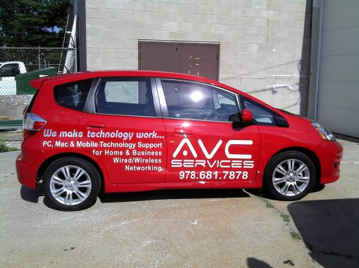 Vinyl Lettering and Logo on Car