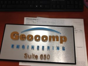 Custom Suite Sign with Raised Letters in acrylic