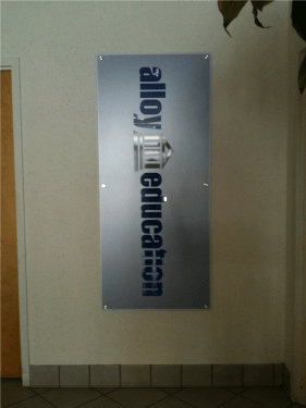 Frosted Acrylic Panel with 3D Logo