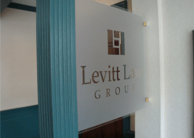 Clear Acrylic Panel with Frosted/Etched Logo