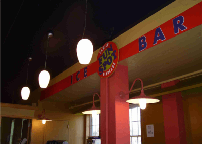 Custom Logo Shape with Dimensional Acrylic Letters