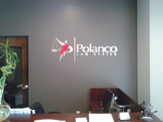 Acrylic and Brushed Aluminum Lawyer Sign