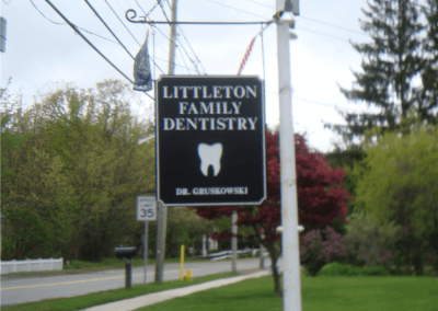 Two Sided Hanging V-Groove Sign Littleton, MA