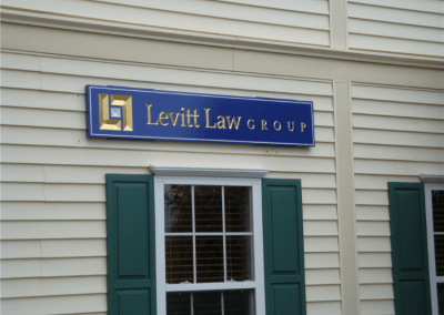 Carved Wall Sign in Redwood with 23K Gold Chelmsford, MA