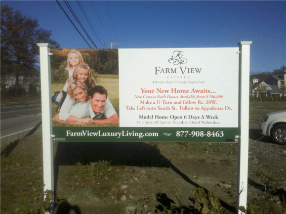 PVC Post and Panel Real Estate Sign