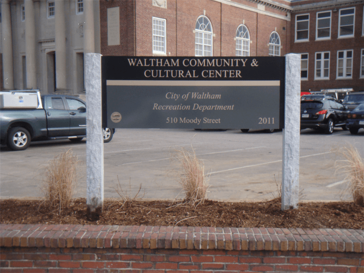 City of Waltham Park Identification Sign
