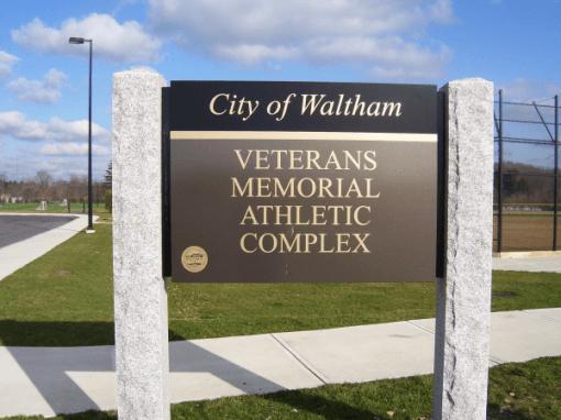 City of Waltham Park Identification Sign