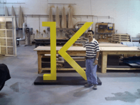 Custom Freestanding K Logo 6' Tall