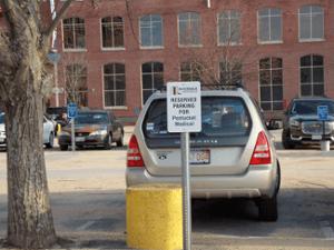 Custom Dibond Parking Sign