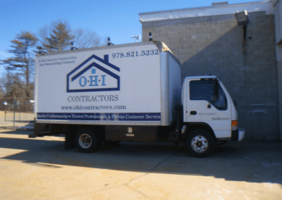 Vinyl Lettering on Box Truck NH