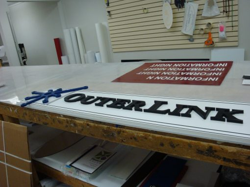 Custom PVC Sign with Dimensional Letters and Logo