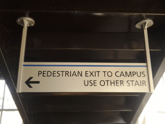 Parking Garage Sign at UMASS Lowell