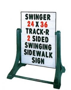 Swinger Sign with Changeable Letter Kit