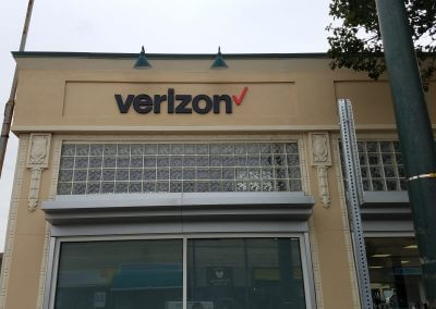 Verizon Watertown PVC Dimensional Letters