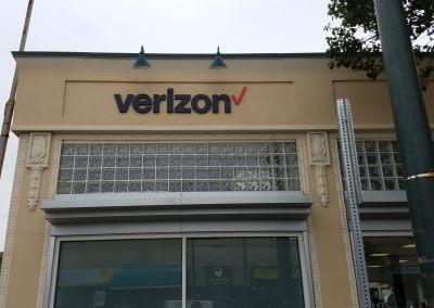 Verizon Watertown PVC Dimensional Letters