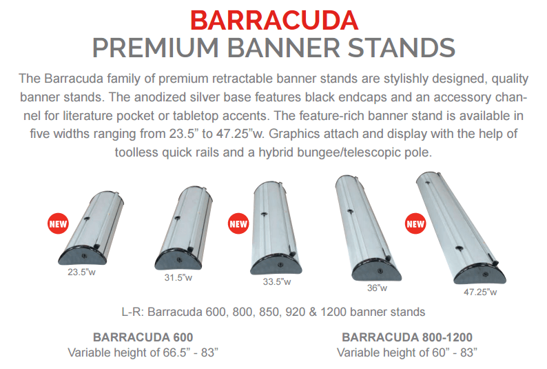 Barracuda Banner Stands