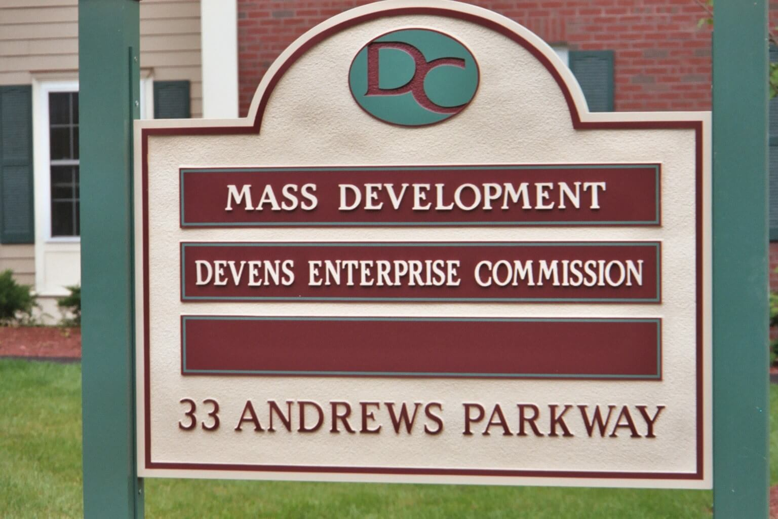Sandblasted Sign - Devens, MA