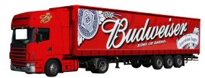 Vehicle Signage - Budweiser Truck