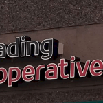 Outdoor sign Reading Cooperative Bank