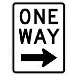One Way Sign with Arrow