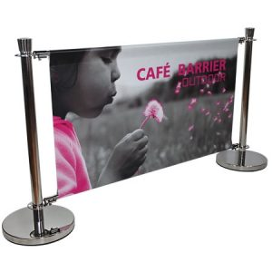 Cafe Barrier Banner Display