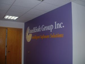 Dimensional Logo Sign IntelliSoft Group Nashua, NH