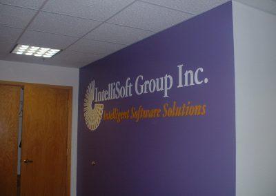 Dimensional Logo Sign IntelliSoft Group Nashua, NH