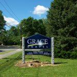 Grace Chapel Lexington Carved Sign