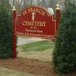 St. Francis Cemetery Carved Sign