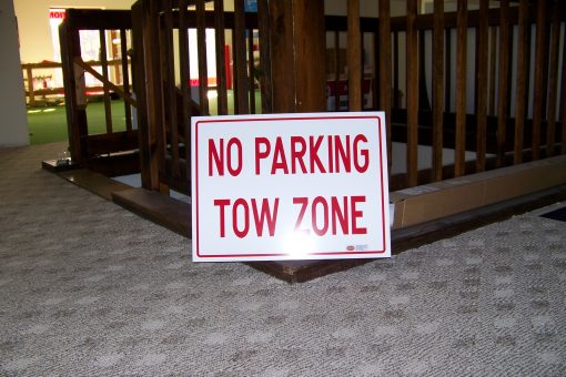 No Parking Tow Zone Signs