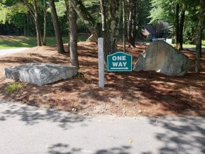 Granite Mounted Parking and Directional Signs
