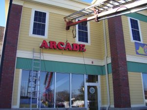 Channel Letter Sign Installation