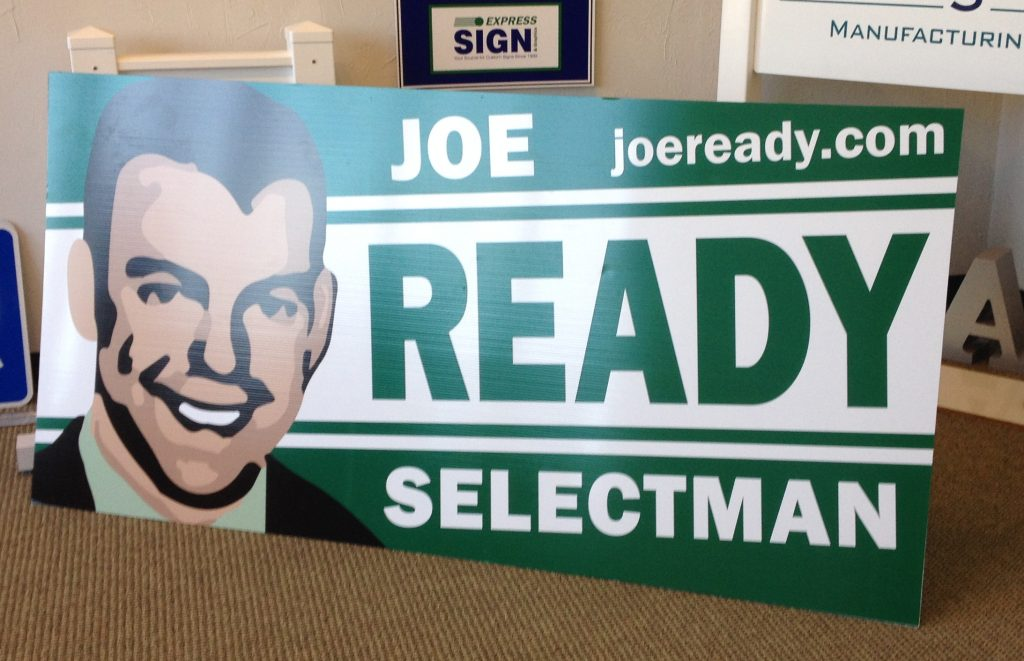 Corrugated Political Sign 8 x 4 feet