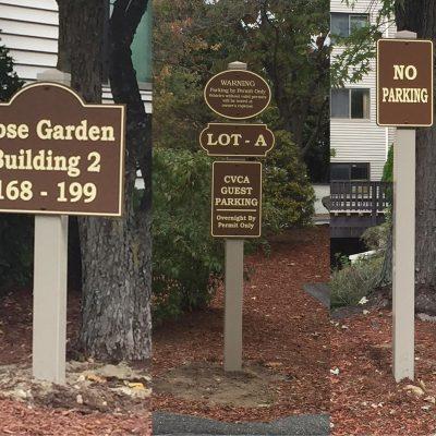 Custom Apartment Building Parking Signs
