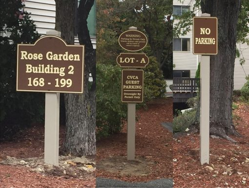 Custom Apartment Building Parking Signs