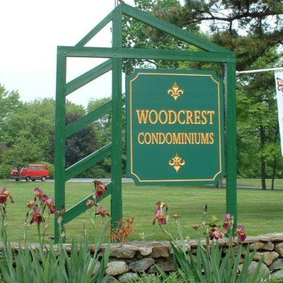 Woodcrest Condominium Carved Sign