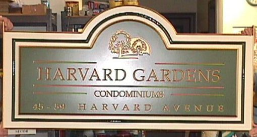 Carved HDU Condominium Sign