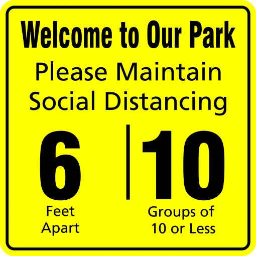 Outdoor Social Distancing Reminder Signs