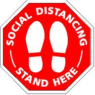Stand Here Signs for Social Distancing