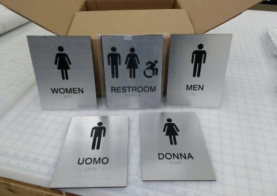 Custom ADA Compliant Restroom Signs