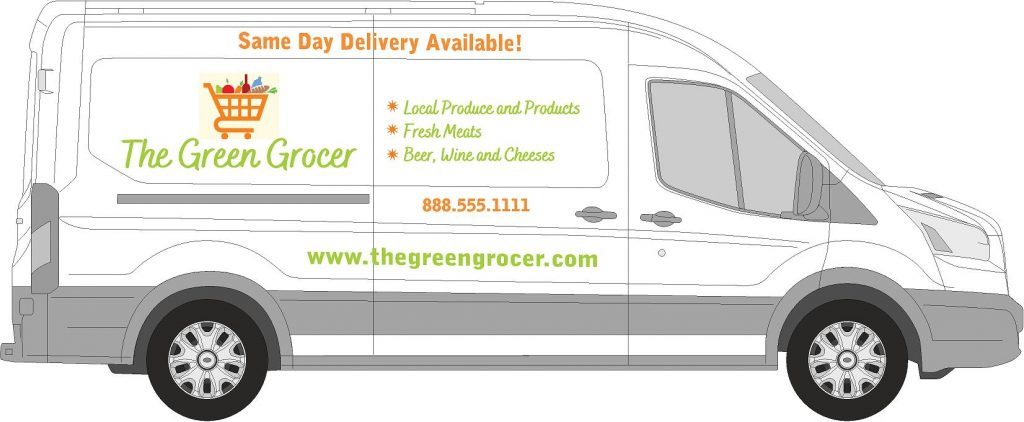 Delivery Truck Lettering